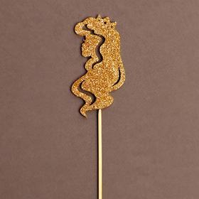 Топпер деревянный «Принцесса», золотые блёстки
