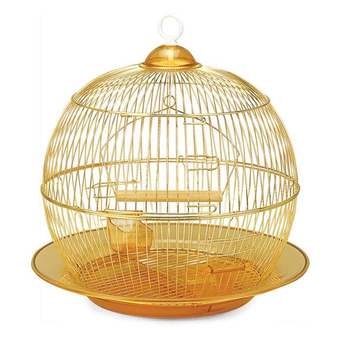 Клетка Triol для птиц, 35 х 33 см, золото