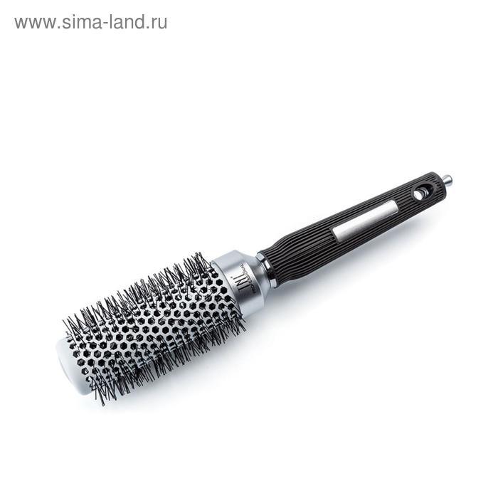 Термобрашинг для волос TNL, алюминиевое покрытие, нейлоновые штифты, d 32 мм, цвет металлик