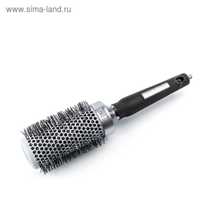 Термобрашинг для волос TNL, алюминиевое покрытие, нейлоновые штифты, d 45 мм, цвет металлик