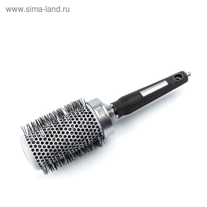 Термобрашинг для волос TNL, алюминиевое покрытие, нейлоновые штифты, d 53 мм, цвет металлик