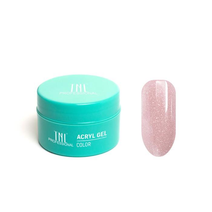 Acryl Gel TNL Illusion, №11 камуфлирующий пыльно-розовый с шиммером, 18 мл