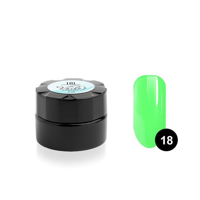 Гель-краска для тонких линий TNL Voile, №18 паутинка зелёный неон, 6 мл