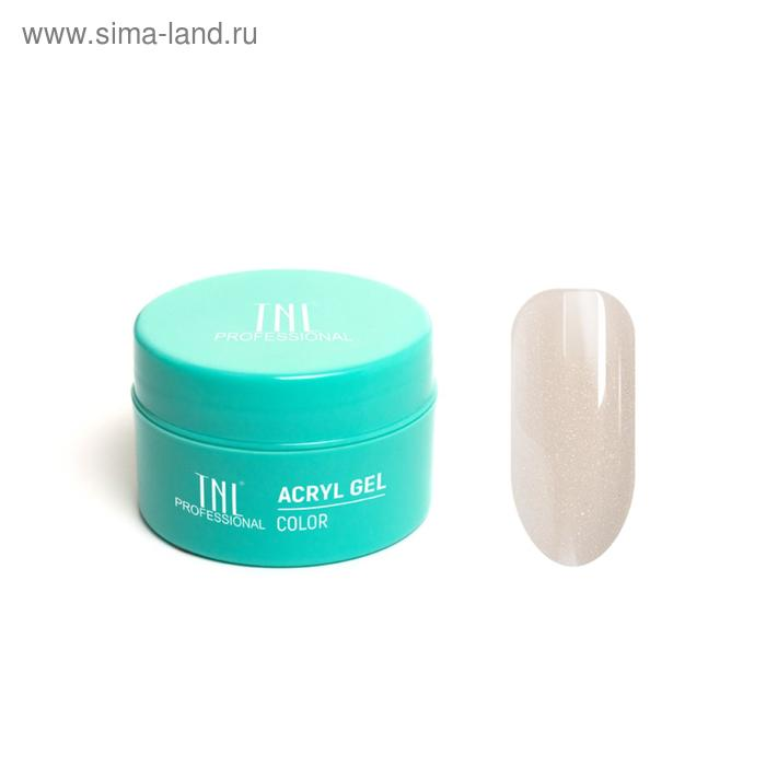 Acryl Gel TNL Illusion, №07 камуфлирующий молочный с шиммером, 18 мл