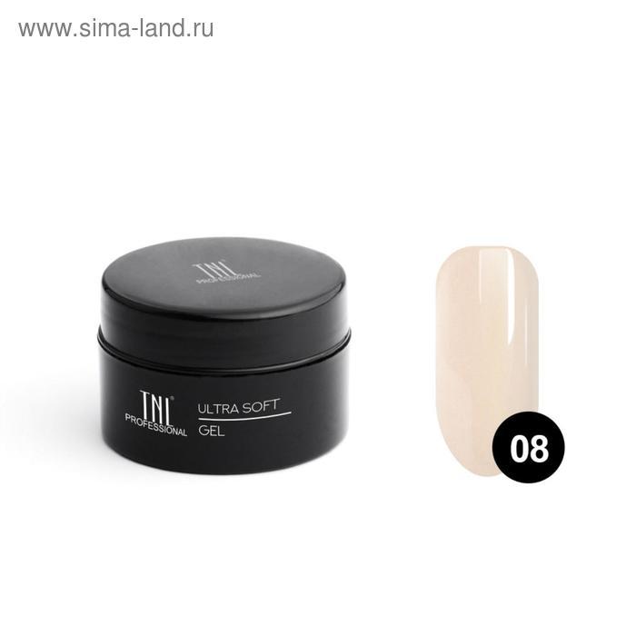 Гель TNL Ultra soft, №08 камуфлирующий светло-кремовый, 18 мл