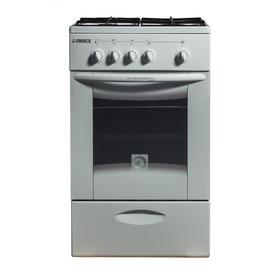 Плита REEX CG-54 bWh, газовая, 4 конфорки, 60 л, газовая духовка, газ-контроль, белая Ош