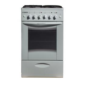 Плита REEX CGE-531 ecWh, комбинированная, 4 конфорки, 57 л, газовая духовка, белая