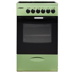 Плита REEX CSE-54 Gn, электрическая, 4 конфорки, 57 л, стеклокерамика, зелёная