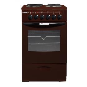 Плита REEX CTE-54 sBn, электрическая, 4 конфорки, 60 л, эмаль, коричневая