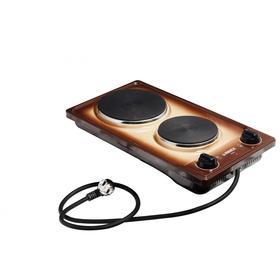 Плитка электрическая REEX CTE- 32 BBn, 2200 Вт, 2 конфорки, крем/коричневая