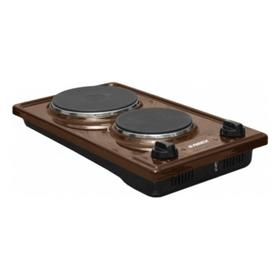 Плита REEX CTE- 32d Bn, 2200 Вт, электрическая, 2 конфорки, коричневая