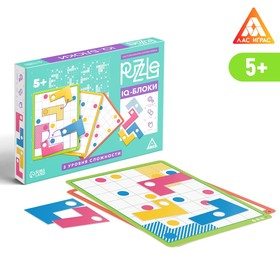 Настольная игра головоломка Puzzle «IQ-блоки 12 элементов» 1 вид, 5+
