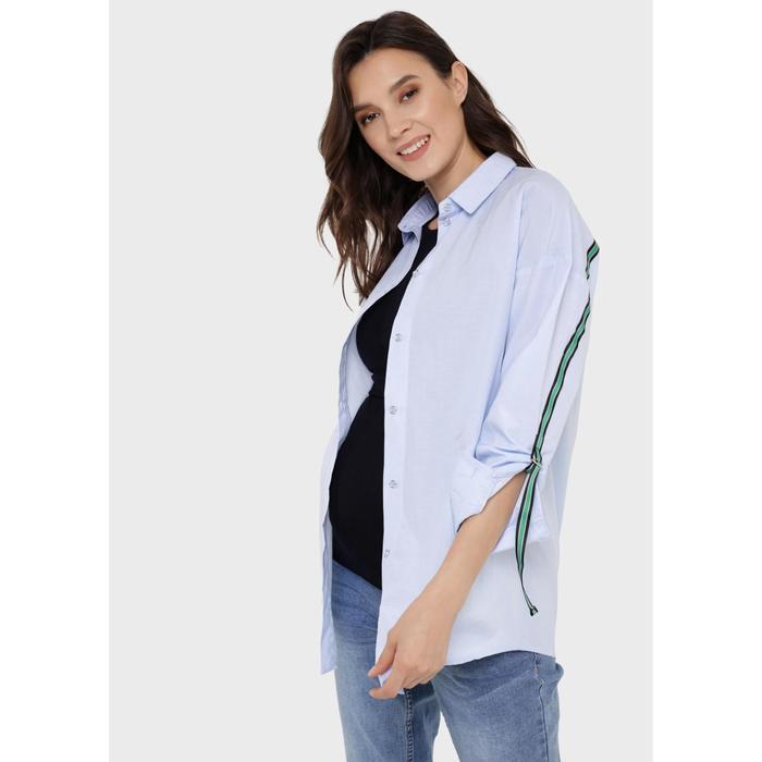 Блузка для беременных и кормления «Маргарет», размер 48, цвет голубой