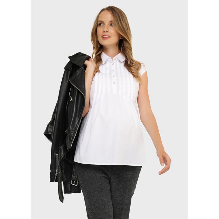 Блузка для беременных и кормления «Каролина», размер 42, цвет белый