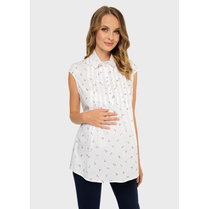 Блузка для беременных и кормления «Каролина», размер 48, цвет белый