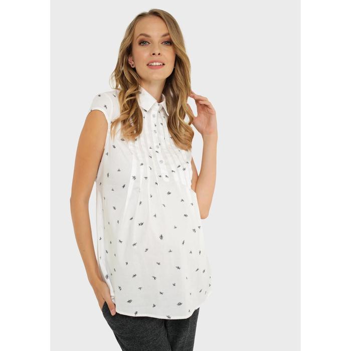 Блузка для беременных и кормления «Каролина», размер 50, цвет белый