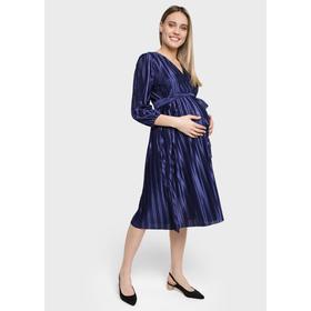Вечернее платье для беременных и кормления поясом «Мэлси», размер 50, цвет синий Ош