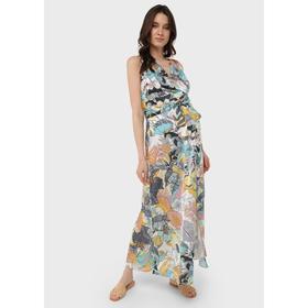 Атласное платье-сарафан для беременных и кормления «Флора», размер 42, цвет жёлтый Ош
