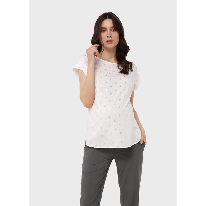 Блузка для беременных «Лиза», размер 44, цвет белый