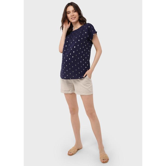 Блузка для беременных «Лиза», размер 46, цвет синий