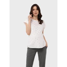 Блузка для беременных «Лиза», размер 48, цвет белый Ош