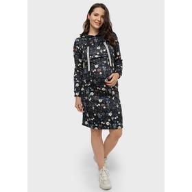 Платье утеплённое для беременных «Минори», размер 46, цвет чёрный Ош