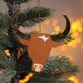 Новогодняя подвеска «Коровка и бык» 0,2х13,5х14 см Ош