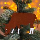 Новогодняя подвеска «Быки и коровы» 0,2х19х10,5 см