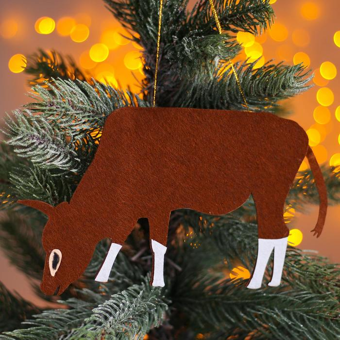 Новогодняя подвеска Быки и коровы 0,2х19х10,5 см