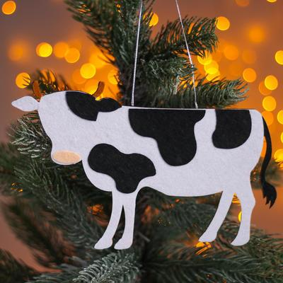 Новогодняя подвеска «Коровы» 0,2х21х12,5 см - Фото 1