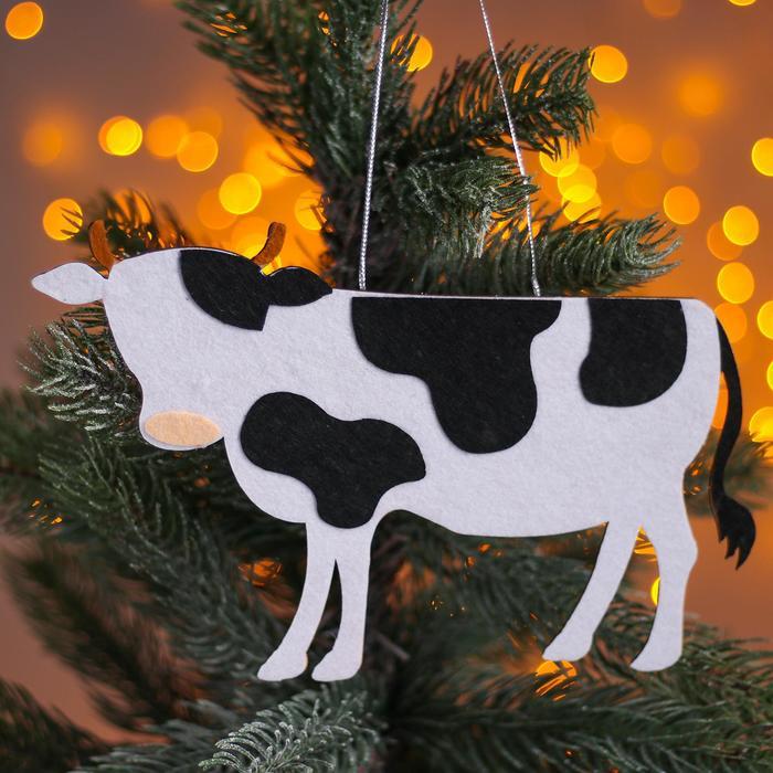 Новогодняя подвеска Коровы 0,2х21х12,5 см