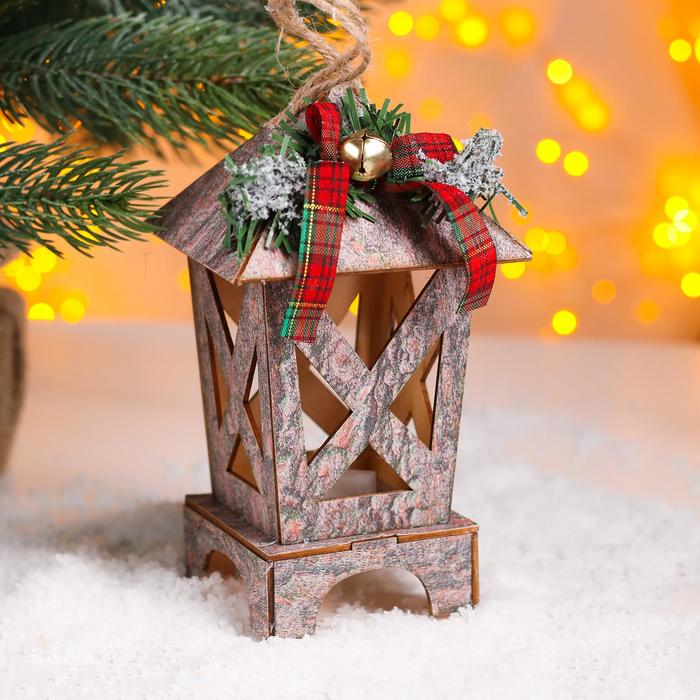 Новогодний декор с подсветкой Сказка 8,5х8,5х16 см