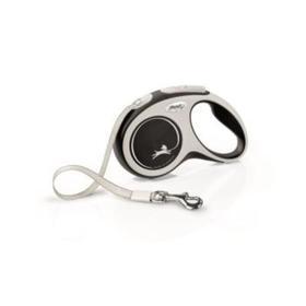 Рулетка Flexi NEW LINE Comfort S (до 15 кг) лента, 5 м серый/черный