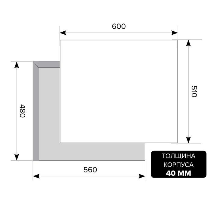 Варочная поверхность Lex GVG 6042 IV LIGHT, газовая, 4 конфорки, светло-бежевая