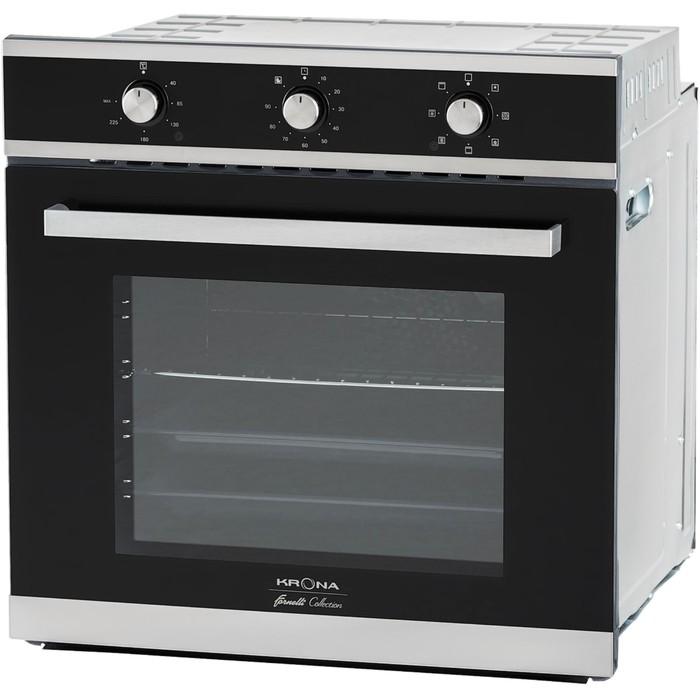 Духовой шкаф Krona SORRENTO 60 S, электрический, 62 л, класс А, чёрный