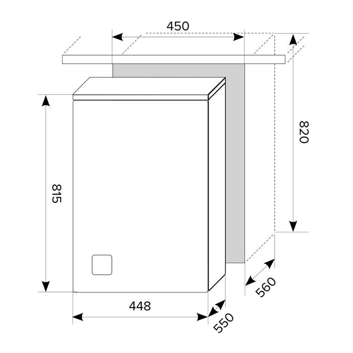 Посудомоечная машина Hansa ZIM614LH, встраиваемая, класс А++, 12 комплектов, 4 режима