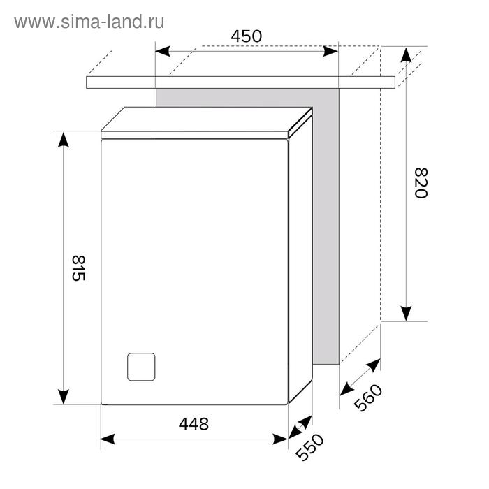 Посудомоечная машина Lex PM 4563 A, встраиваемая, класс А++, 10 комплектов, 6 режимов