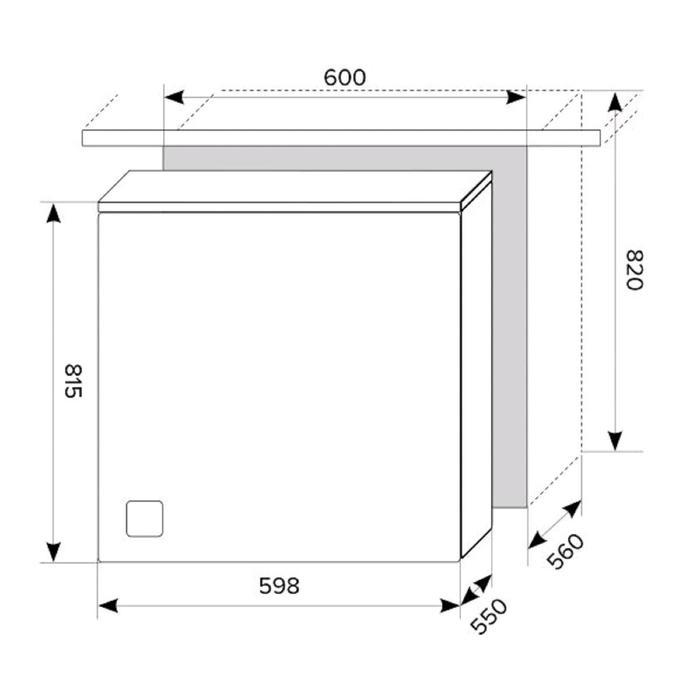Посудомоечная машина Lex PM 6052, встраиваемая, класс А++, 12 комплектов, 5 режимов