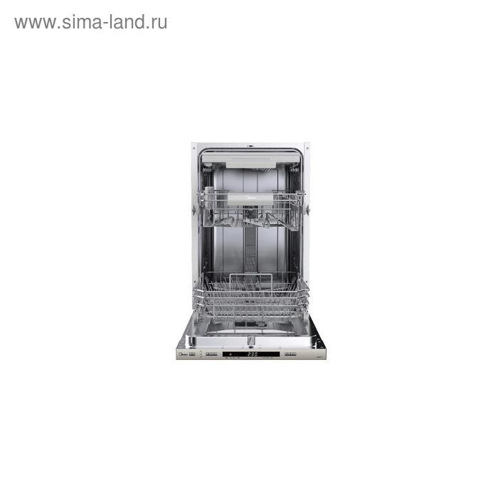 Посудомоечная машина Midea MID45S710, встраиваемая, класс А++, 11 комплектов, 8 режимов