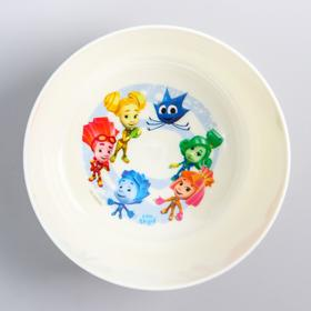 Глубокая детская тарелочка «ФИКСИКИ», 430 мл