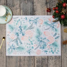 """Салфетка на стол """"Christmas flowers"""" 30х40см"""
