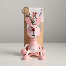 Игрушка-вознесенск «Зайка розовый» в упаковке