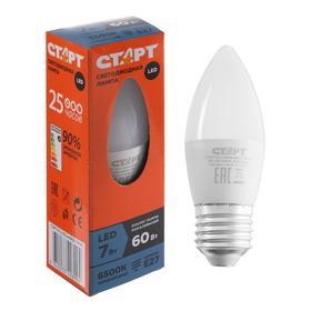 """Лампа светодиодная """"Старт"""" Эко, Свеча, E27, 7 Вт, 2700 K, 230 В, теплый белый"""