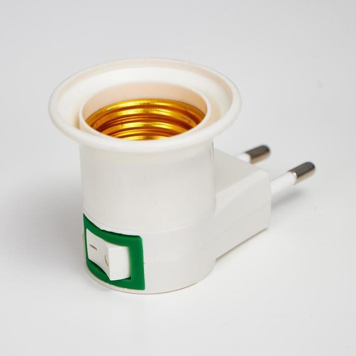 Светильник с выключателем 11121 Е27 40Вт белый 7х4,5х4,5 см