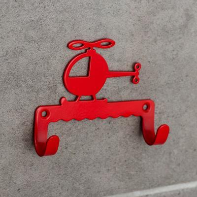 Крючок детский «Вертолётик», цвет красный