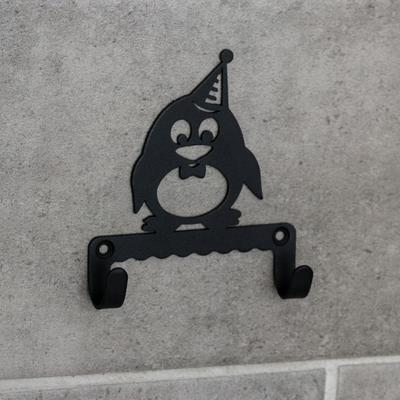 Крючок детский «Пингвин», цвет чёрный