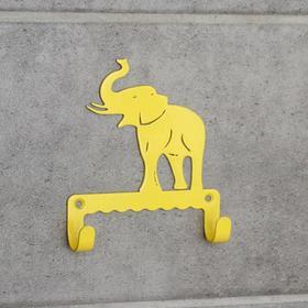 Крючок детский «Слон», цвет жёлтый