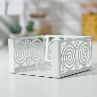 Салфетница «Гипноз», 13×13×7 см, цвет белый - Фото 1
