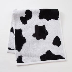Полотенце махровое Этель ЧБ «Корова», пестроткань, 30х60 см