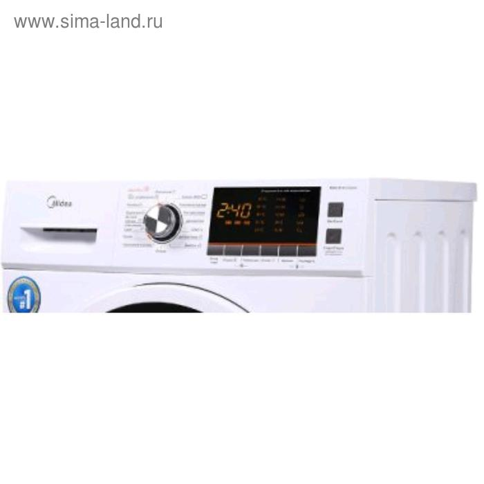 Стиральная машина Midea MWC8143 CROWN, 1400 об/мин, 8 кг, белая